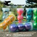 Personalised or Plain Chromax M1X Metallic Golf Balls - 3 Ball Pack
