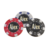 Personalised Poker Chip Markers (Pack of 3)