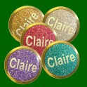 Personalised or Plain Glitter Ball Markers