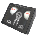 Personalised Boxed Gift Sets (Golf Balls, Pitch Repairer & Markers)