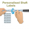 Shaft Labels Super Clear