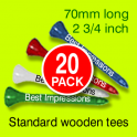 Personalised 70 mm Wooden Tees