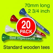 Personalised 70 mm Wooden Tees